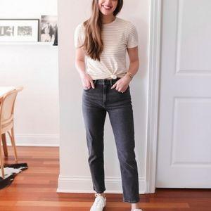 EVERLANE HIGH RISE Washed Black Denim Jeans